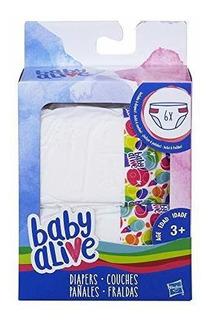 Paquete De Accesorios De Pañales De Bebe Vivos De Hasbro.