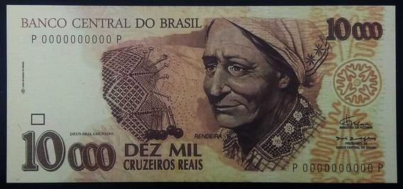 10000 Cruzeiros Reais Fe Cédula Fantasia Rendeira
