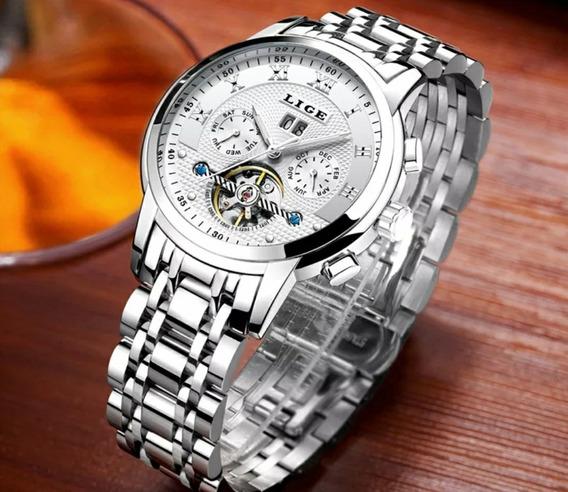 Relógio Mecânico Automático Lige Masculino