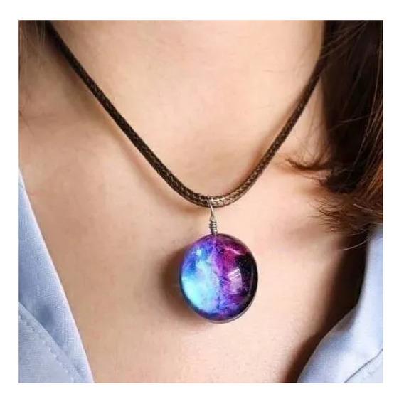 Colar Galaxia Nebulosa Universo Estrela Moda Fashion