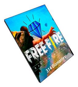 Free Fire Garena Freefire 314 Diamantes Recarga Na Conta