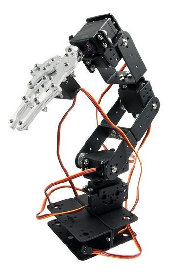 Braço Robótico Metálico P/ Arduino + 6 Servos + Flanges