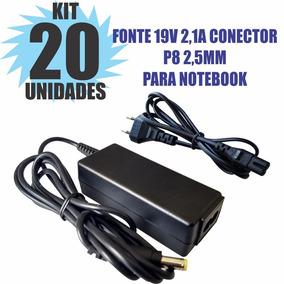 Kit 20 Peças Fonte Carregador 19v 2.1a Notebook Positivo