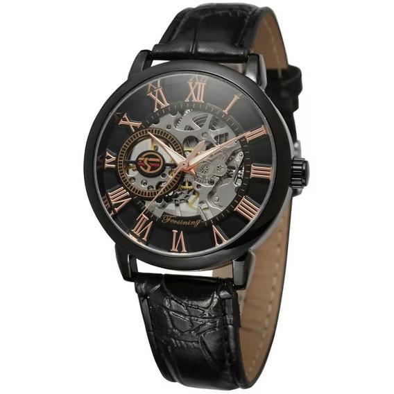 Relógio Esqueleto, Masculino Super Maquina Preto