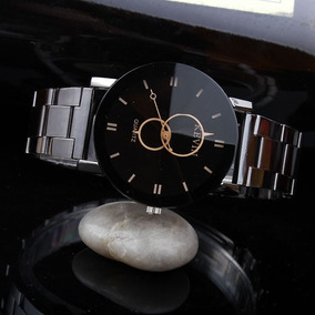 Relógio Kevin Feminino Masculino Aço Cromado Barato Promoção