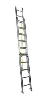 Escalera Telescópica Aluminio 24 Pasos - Cap De Carga 140kgr