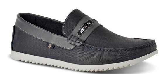 Sapato Ferracini Masculino Marinho Couro Legítimo 2108b
