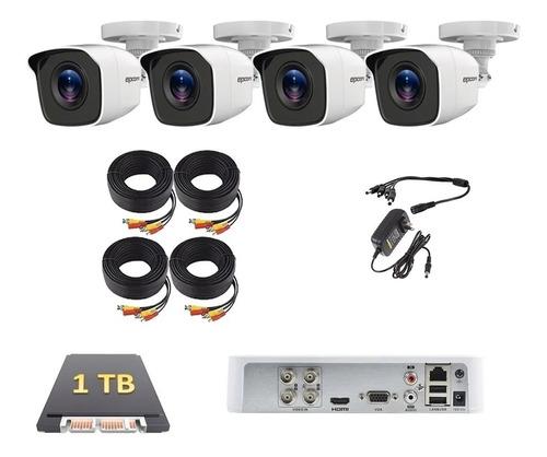 Imagen 1 de 5 de Kit Video Vigilancia 4 Cámaras Cctv Epcom 1tb Lb7turbokit4p