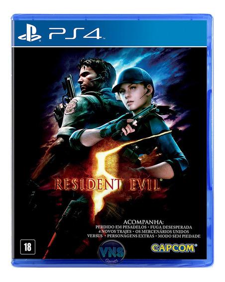 Resident Evil 5 - Ps4 - Play 4 - Novo - Mídia Física Lacrado