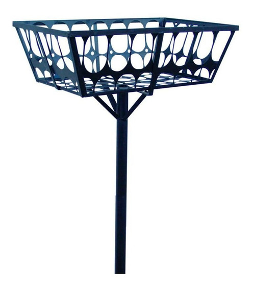 Lixeira De Rua Modelo Retangular 60cm