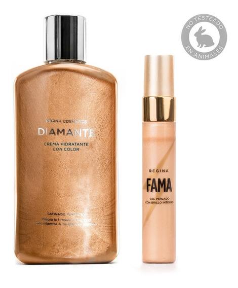 Set Maquillaje Bronceado Glowy Regina Diamante + Fama