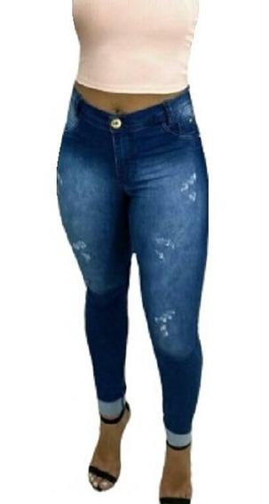 Calça Jeans Feminina Lycra Hot Pants Empina Bumbum Instagram