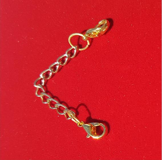 Extensor Colar Banho Ouro 18k American 8cm 2 Fecho L938