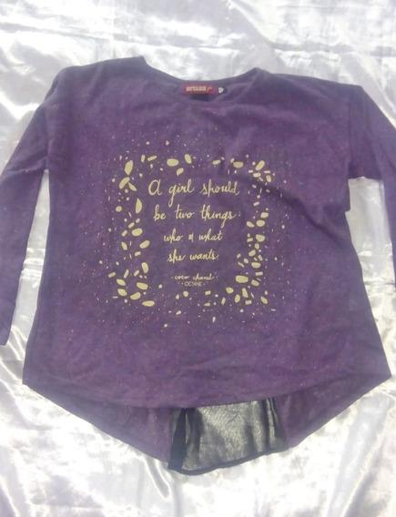 Camiseta Con Tul En La Espalda Talle S