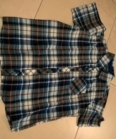 Camisa Manga Corta Escocesa