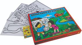 Brincando De Pintura Kit Educativo Para Colorir