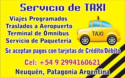 Servicio De Taxi Neuquen. Viajes Corta Y Larga Distancia.