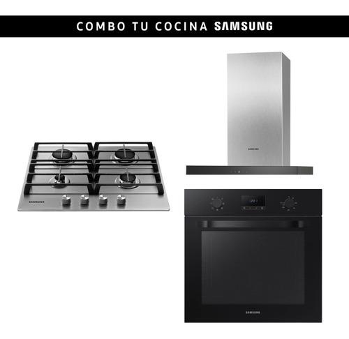 Combo Samsung Horno + Anafe A Gas 4h + Campana Stienda
