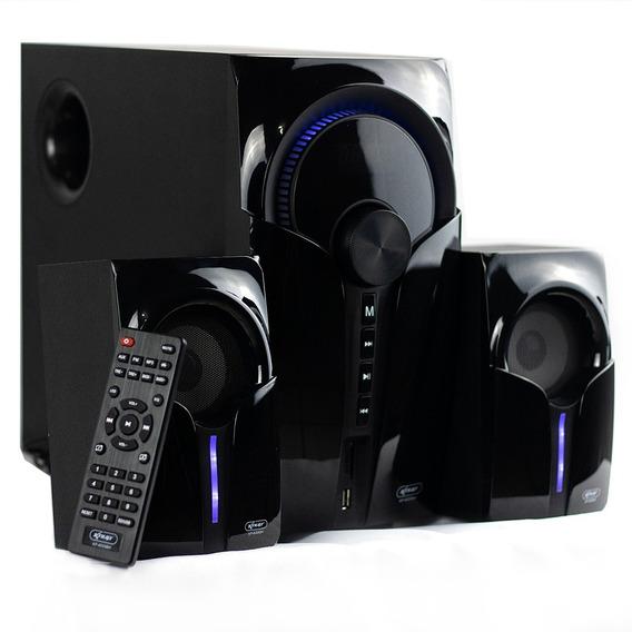 Micro System 2.1 Caixa De Som Bluetooth Usb 60w Knup 6028
