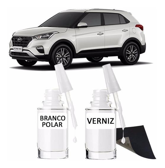 Tinta Tira Risco Automotivo Hyundai Creta Branco Polar
