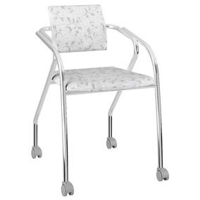 Cadeira Para Escritório 1713 Carraro Com Rodízios Tecíl