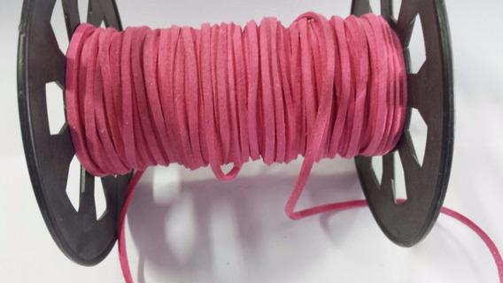 Fio Cordão Camurça Pulseira Colar 2.7mm Pink 5 Metros