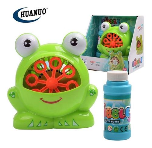 Maquina De Burbujas Modelo Ranita Para Niños Juguete De Baño