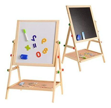 Imagen 1 de 2 de Pizarra 2 En 1 Tiza Marcador Magnética Caballete Atril Niños