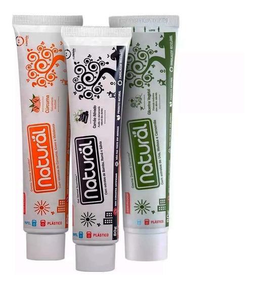 Kit 3 Creme Dental Natural Suavetex 80 Grs Cada