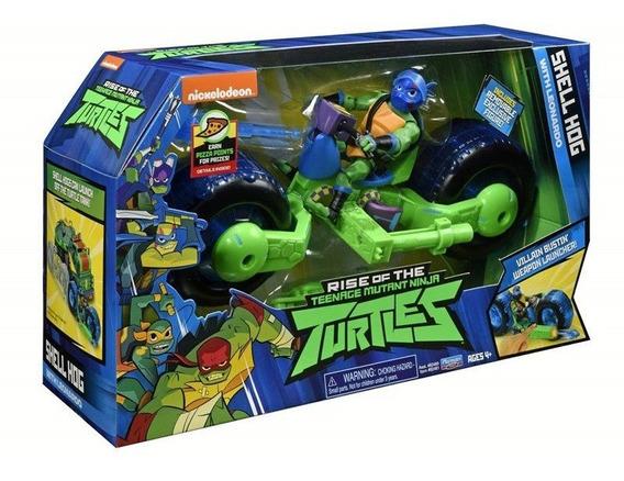 Boneco Tartaruga Ninja E Veículo - Leonardo 2043 Sunny