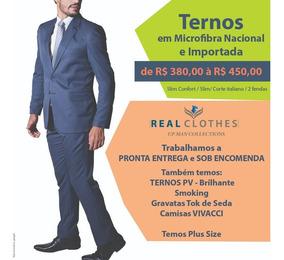 Ternos Micro Fibra Slim Fit E Slim Confort