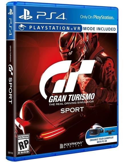 Jogo Gran Turismo Sport Ps4 Mídia Física Original Br Corrida