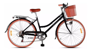 Bicicleta Paseo Dama Aurora Vita R26 Retro Shimano 6 Vel. *