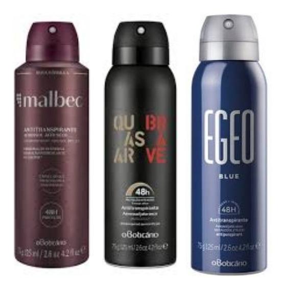 Kit Desodorante Masculino Malbec, Quasar E Egeo O Boticário
