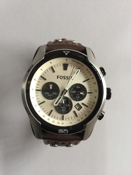 Relógio Fossil Ch2890 Original Masculino Couro A Prova D