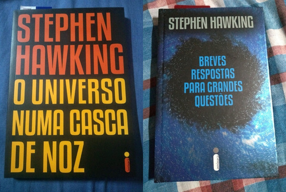 Lote 2 Livros Livro Stephen Hawking Universo Breves Resposta