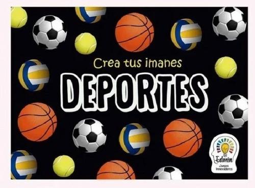Crea Pinta Imanes Deportivos Juego Manualidades Arte Chicxs