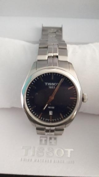 Relógio Tissot Pr100 Fundo Azul, Modelo T101410, Muito Novo