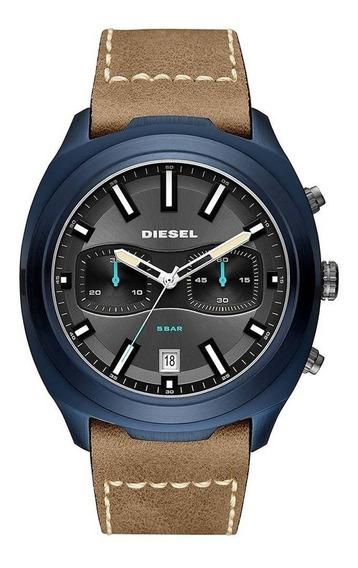Relógio Diesel Tumbler Masculino Couro Dz4490