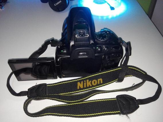 Cámara Reflex Nikon D5100, Body Más Lente 18 55 , Excelente