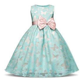 Vestido De Niña Fiesta Mariposas J000025
