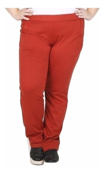 Pantalon De Punto Roma Con Bolsillos. Talles Grandes Reales
