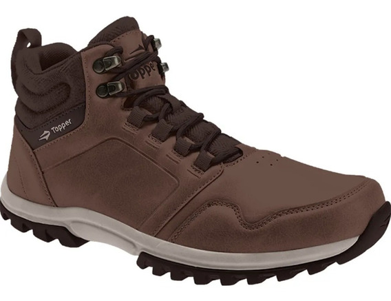 Zapatillas Botitas Topper Outdoor Kang Hi Negro Marron Full