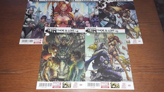 Original Sin Thor Y Loki Marvel Comic Televisa Iron Man Dc