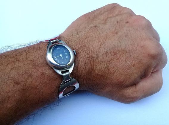 Pulseira Bracelete Prata Maciça C/ Relógio Swiss Corda 30gr