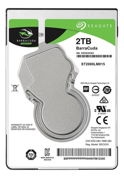Disco rígido interno Seagate Barracuda ST2000LM015 2TB verde