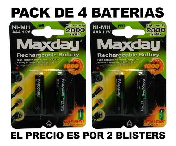 Baterías Recargables Maxday Aaa Pack De 4 Unidades