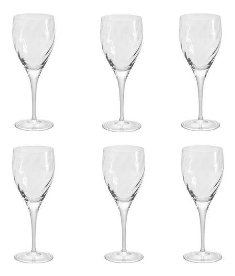 Conjunto De 6 Taças De Cristal Para Vinho Tinto Oxford Twist 517