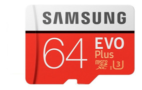 Cartão Micro Sd Sdxc Samsung Evo Plus 64gb 100mb/s U3