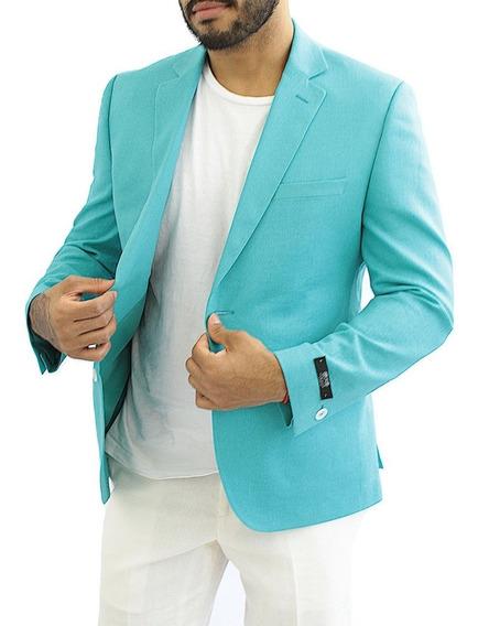 Saco De Moda Para Hombre Slim Lino Jade Colucci Original